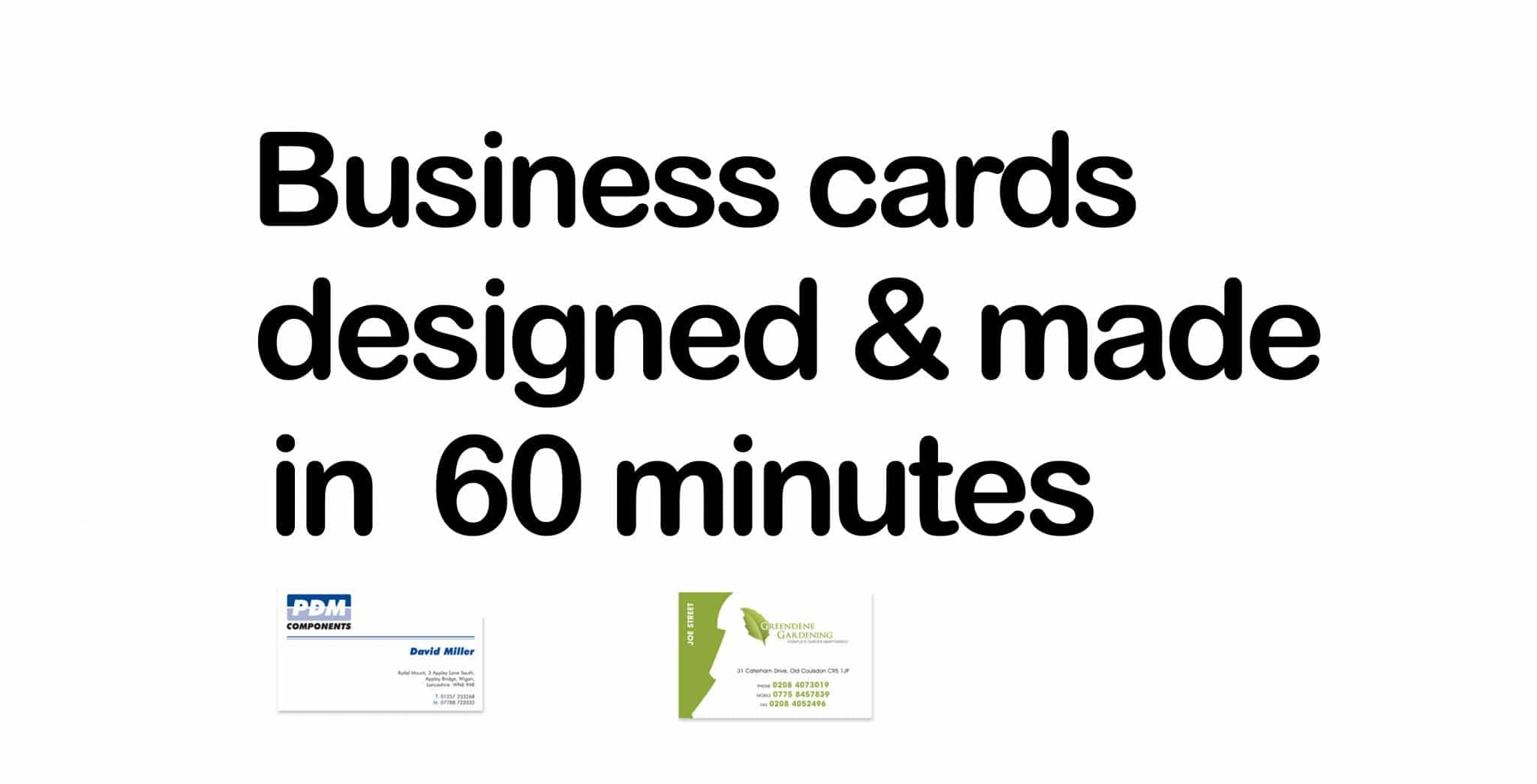Instant Business cards same day collection in London