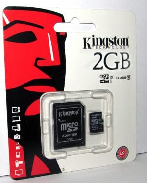 2GB Micro SDcard with Adapter
