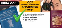 OCI Visa Application Help