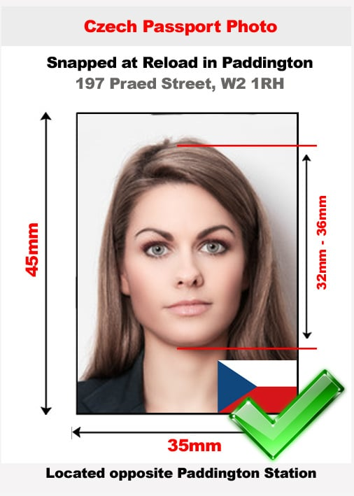 Czech passport photo