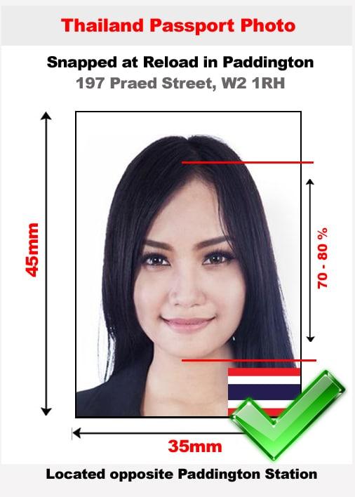 Thai passport photo