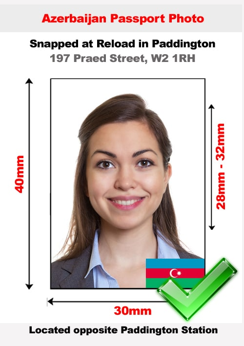Azerbaijan passport photo