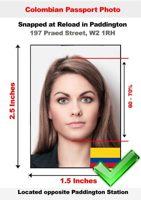 Colombian passport photo
