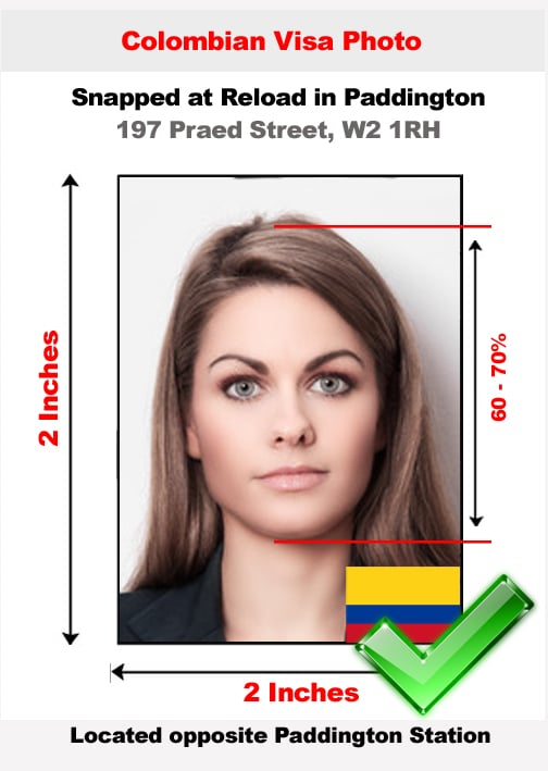 Colombian visa photo