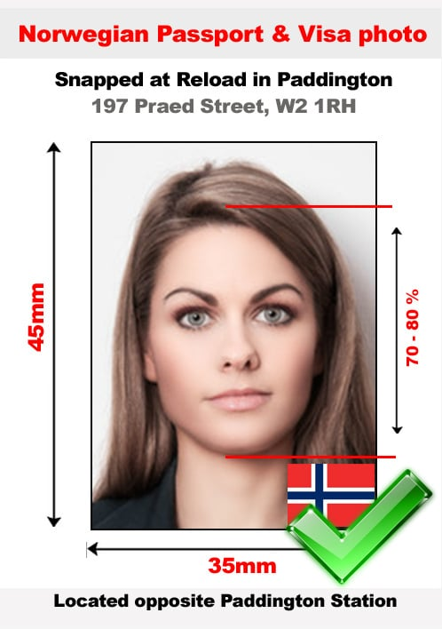 Norwegian passport photo