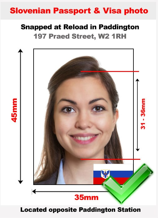 Slovenian passport photo