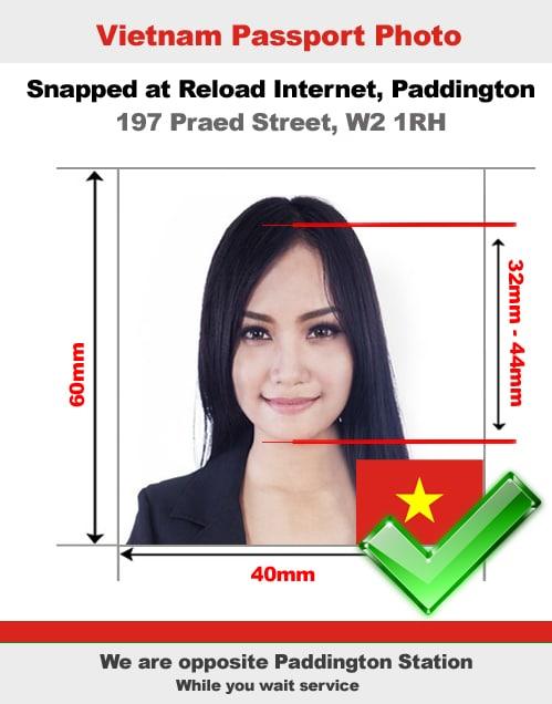 Vietnamese passport photo