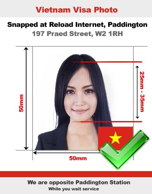 Vietnamese visa photo