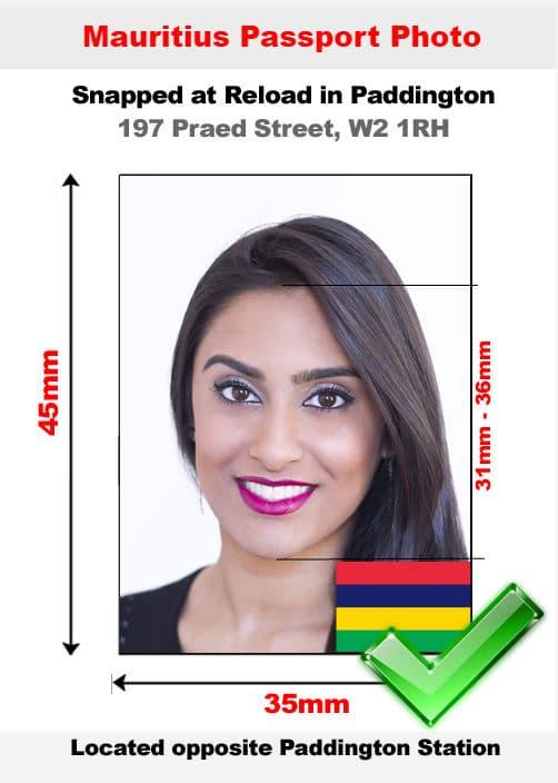 Mauritius passport photo