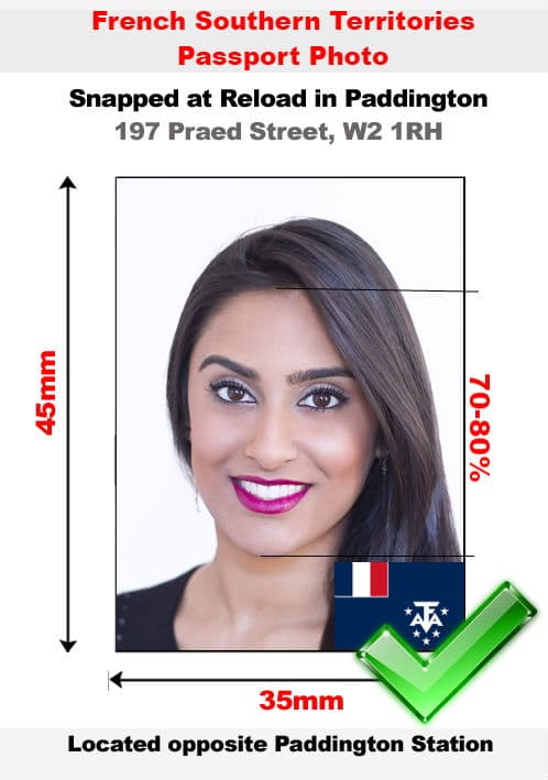 French Southern Territories Passport Photo