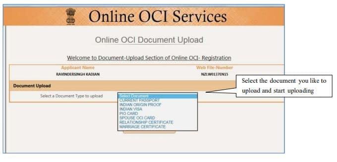 OCI document resize