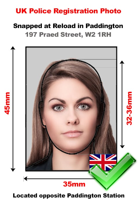 UK Police Registration Proforma Photo