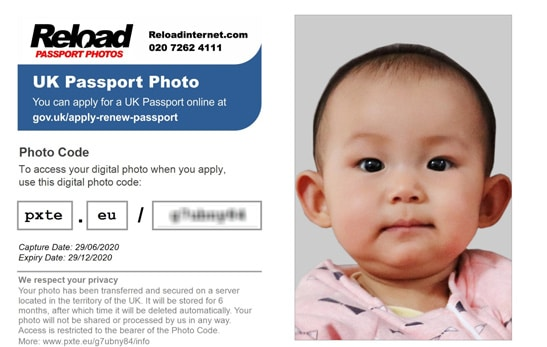 online baby passport photo