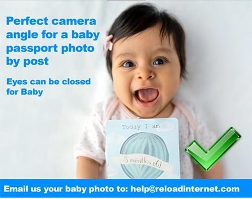 online baby passport photo by post