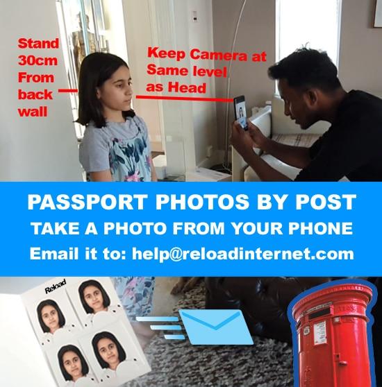Online Passport photo by post