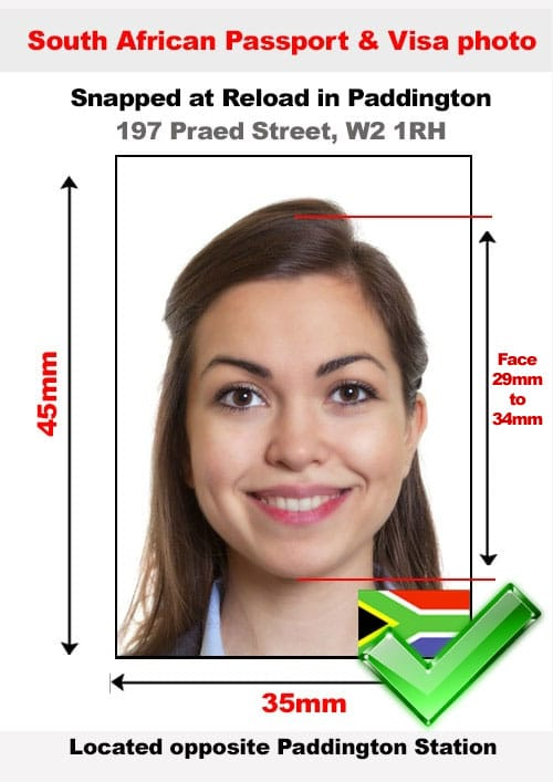 South Africa Passport Photo Specification